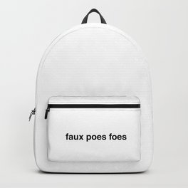 Faux poes foes Backpack