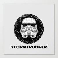 stormtrooper Canvas Prints featuring stormtrooper by Tarik Ali Sert
