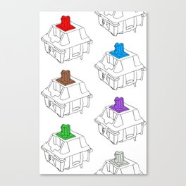 Mechanical Switches Canvas Print