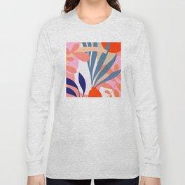 Jungle Love - Pink & Blue Long Sleeve T-shirt