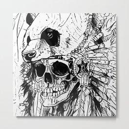 Panda Totem Metal Print