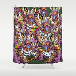 Steampunk Bunny Rabbit Shower Curtain