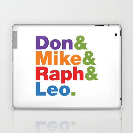 Don & Mike & Raph & Leo. Laptop & iPad Skin