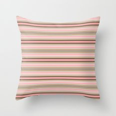 Striped colors of a pink and beige conch sea shell Throw Pillow