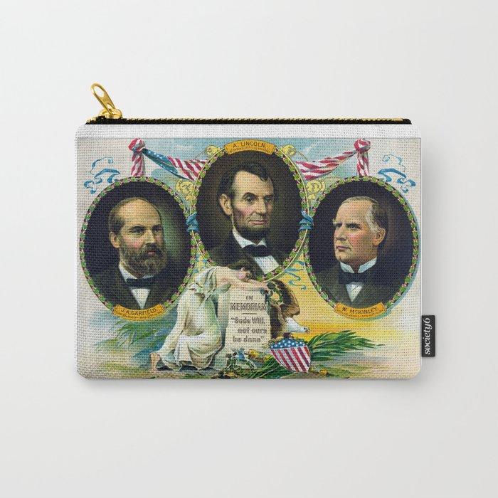 Garfield, Lincoln, and McKinley -- In Memoriam Carry-All Pouch