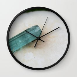 indicolite tourmaline chillin on a mushroom ~ Wall Clock