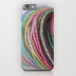 Multicolored Handspun Yarn iPhone Case