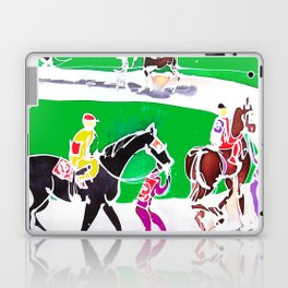 At the Races           by Kay Lipton Laptop & iPad Skin