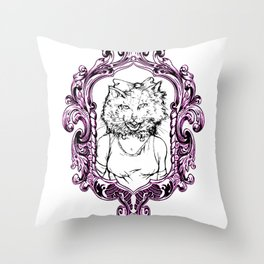 How Will I Meow Graphic Frame Throw Pillow