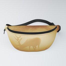 Elk in Early Morning Mist Fanny Pack