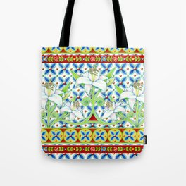 Extravagant Elizabethan Folkloric Lily Tote Bag