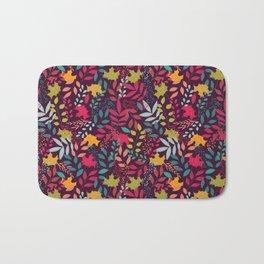 Autumn seamless pattern with floral decorative elements, colorful design Bath Mat