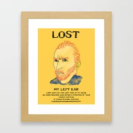 Where did it Gogh? Framed Art Print