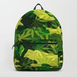 Green Marijuana Cannabis camo camouflage army style pattern Backpack