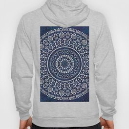 Blue and White Mandala - LaurensColour Hoody