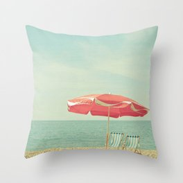 Deserted Beach Throw Pillow