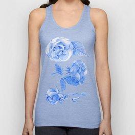 Blue Roses Watercolor Unisex Tank Top