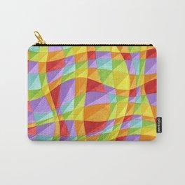 Circus Rainbow Plaid Carry-All Pouch