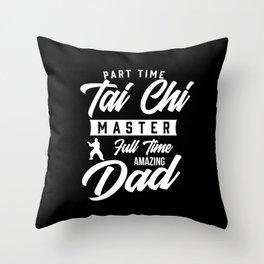 Mens Taiji Martial Arts Chinese Shadow Boxing Dad Gift Tai Chi print Throw Pillow