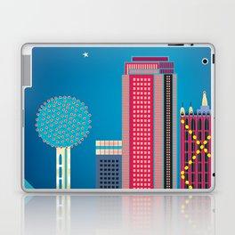 Dallas, Texas - Skyline Illustration by Loose Petals Laptop & iPad Skin