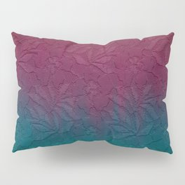 Gable green navy blue burgundy lace gradient Pillow Sham