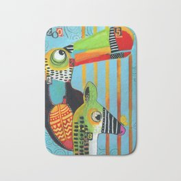 """""""It's a Zoo Out There"""" Bath Mat"""