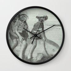 Monkey Manatee  Wall Clock