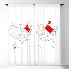 Knob Pin New Mexico Blackout Curtain
