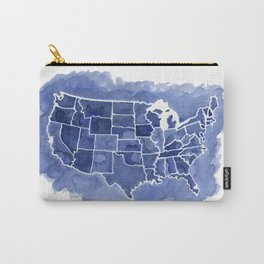 Watercolor Map of America Carry-All Pouch