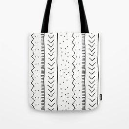 Moroccan Stripe in Cream and Black Tote Bag