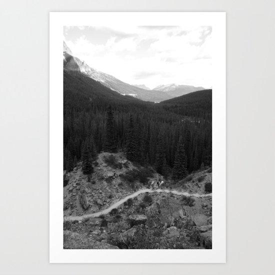 Lets Get Lost, The Valley of Ten Peaks Art Print