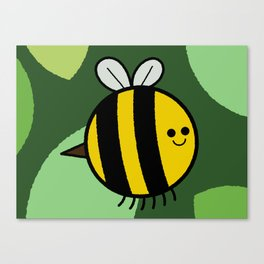 Cutesy Crawlies — Bumblebee Canvas Print