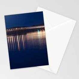 The River Tay at night Dundee Stationery Cards