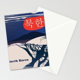 North Korean Vintage travel poster Stationery Cards