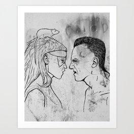 Yolandi & Ninja Art Print