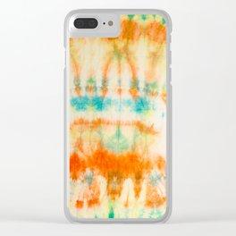 rainbow sun Clear iPhone Case