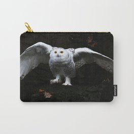 Snowy Owl With Open Wings Carry-All Pouch