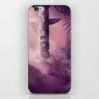 totem iPhone & iPod Skins featuring Totem by Ramona Treffers