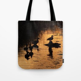 Wood Duck Silhouettes Tote Bag