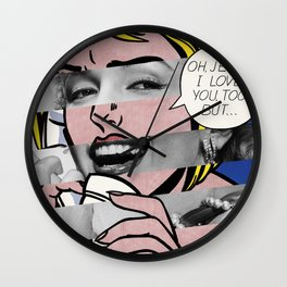 """Roy Lichtenstein's """"Oh, Jeff I Love You, Too But..."""" & Marylin Monroe Wall Clock"""