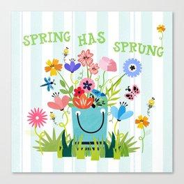 Spring Has Sprung Cuteness In The Garden Canvas Print