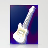 guitar Stationery Cards featuring Guitar by Vitta