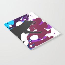 Splattered Paint Wolf Notebook