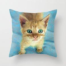 Cute Little Kitten  Throw Pillow