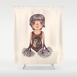 MASKED OWL Shower Curtain