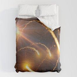 Flying Comets and light rays, digital art Comforters