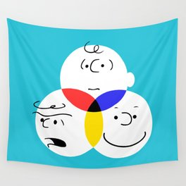Charlie Brown, colour wheel Wall Tapestry
