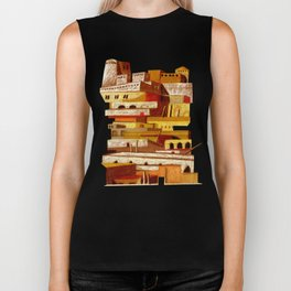 The fortress at sunset Biker Tank