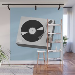 Turntable Illustration Wall Mural