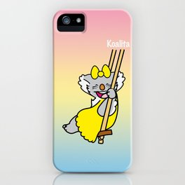 Koalita on the swing iPhone Case